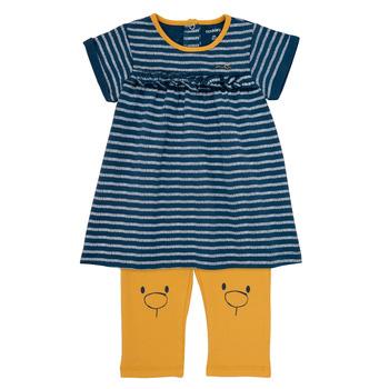 textil Flickor Korta klänningar Noukie's AYOUB Blå / Gul
