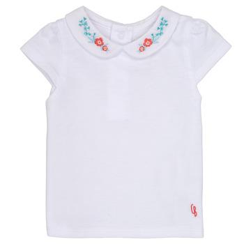 textil Flickor T-shirts Carrément Beau MAYVE Vit