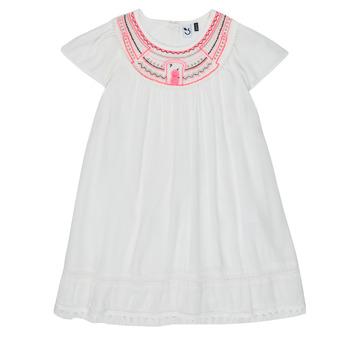 textil Flickor Korta klänningar 3 Pommes LAURA Vit