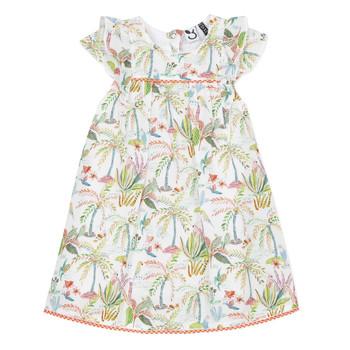 textil Flickor Korta klänningar 3 Pommes SANDRINE Vit