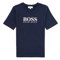 textil Pojkar T-shirts BOSS MARIA Blå