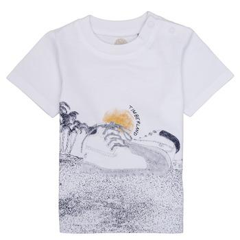 textil Pojkar T-shirts Timberland ANTONIN Vit