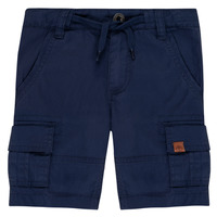 textil Pojkar Shorts / Bermudas Timberland LUKA Blå