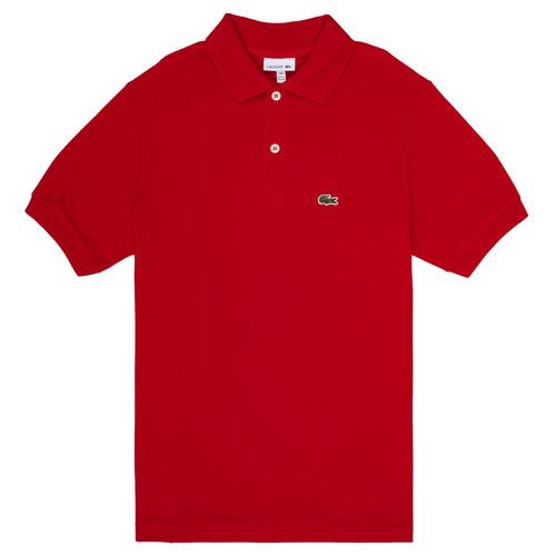 textil Pojkar Kortärmade pikétröjor Lacoste LOLLA Röd