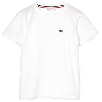 textil Pojkar T-shirts Lacoste ALIZE Vit
