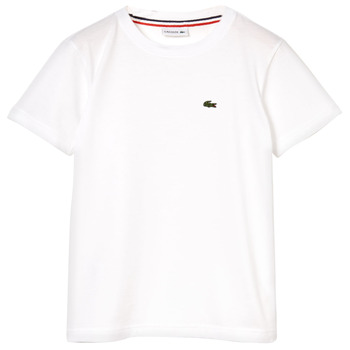 textil Pojkar T-shirts Lacoste APAULINE Vit