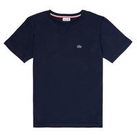 textil Pojkar T-shirts Lacoste KETLEEN Marin