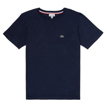 textil Pojkar T-shirts Lacoste JUSTYNE Marin