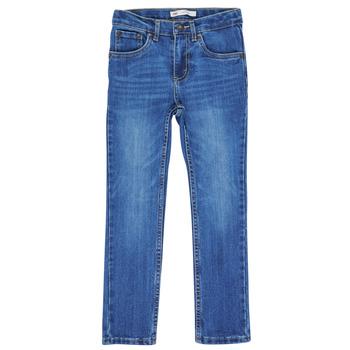 textil Pojkar Skinny Jeans Levi's 510 BI-STRETCH Blå