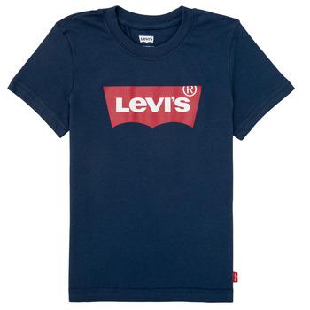 textil Pojkar T-shirts Levi's BATWING TEE Marin