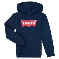 textil Pojkar Sweatshirts Levi's BATWING SCREENPRINT HOODIE Marin