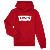 textil Pojkar Sweatshirts Levi's BATWING SCREENPRINT HOODIE Röd