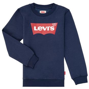 textil Pojkar Sweatshirts Levi's BATWING CREWNECK Marin