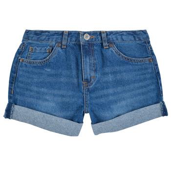 textil Flickor Shorts / Bermudas Levi's GIRLFRIEND SHORTY SHORT Blå