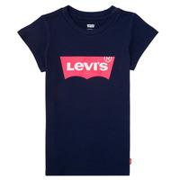 textil Flickor T-shirts Levi's BATWING TEE Marin