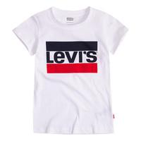 textil Flickor T-shirts Levi's SPORTSWEAR LOGO TEE Vit