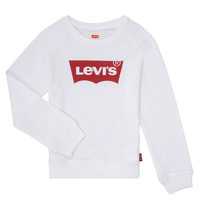 textil Flickor Sweatshirts Levi's KEY ITEM LOGO CREW Vit
