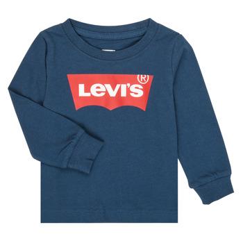 textil Pojkar Långärmade T-shirts Levi's BATWING TEE LS Marin