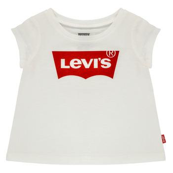 textil Flickor T-shirts Levi's BATWING TEE Vit