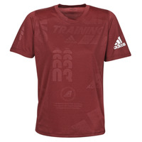 textil Herr T-shirts adidas Performance DAILY PRESS TEE Röd