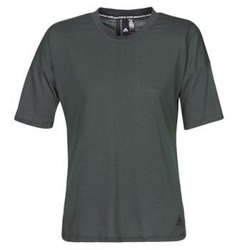textil Dam T-shirts adidas Performance W MH 3S Tee Svart