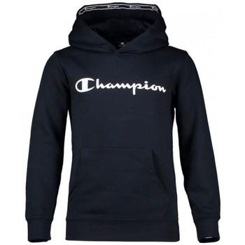 textil Pojkar Sweatshirts Champion Hooded Sweatshirt Kid's Bomull Blå