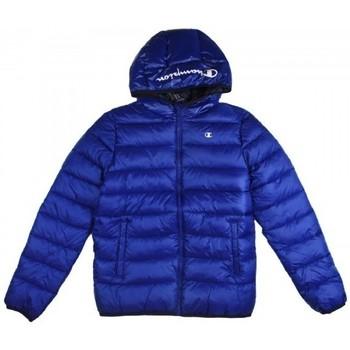 textil Pojkar Täckjackor Champion Hooded Jacket för pojkar Blå