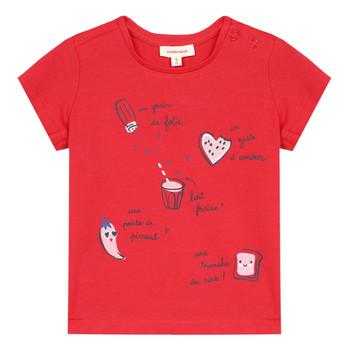 textil Flickor T-shirts Catimini MUSIKOU Röd