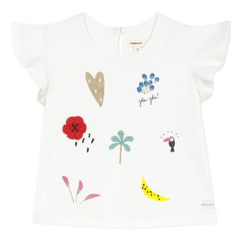 textil Flickor T-shirts Catimini NADEGE Vit