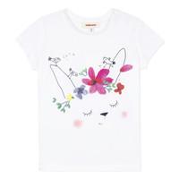 textil Flickor T-shirts Catimini MAE Vit