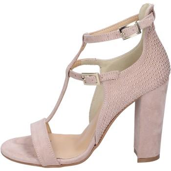 Skor Dam Sandaler Olga Rubini sandali camoscio sintetico borchie Rosa