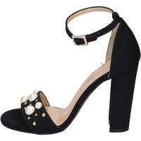 Skor Dam Sandaler Olga Rubini sandali camoscio sintetico borchie Nero