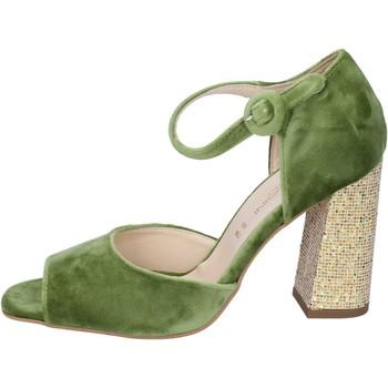 Skor Dam Sandaler Olga Rubini sandali velluto Verde