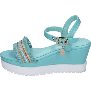 Skor Dam Sandaler Enrico Coveri sandali pelle sintetica tessuto Blu