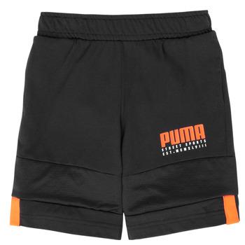 textil Pojkar Shorts / Bermudas Puma ALPHA JERSEY SHORT Svart