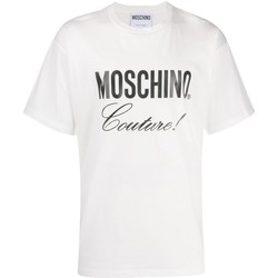 textil Herr T-shirts Moschino ZA0710 Vit