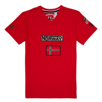 textil Pojkar T-shirts Geographical Norway JIRI Röd