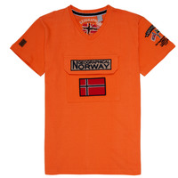 textil Pojkar T-shirts Geographical Norway JIRI Orange