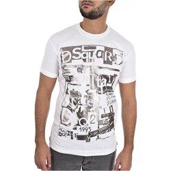 textil Herr T-shirts Dsquared S74GD0531 Vit