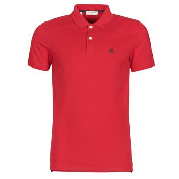 textil Herr Kortärmade pikétröjor Selected SLHARO Röd