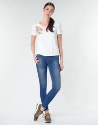 textil Dam Skinny Jeans Replay LUZ Blå / Mörk