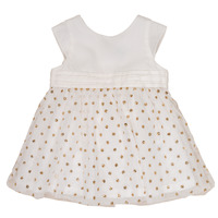 textil Flickor Korta klänningar Petit Bateau FAVORITE Vit / Guldfärgad