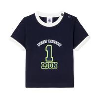 textil Pojkar T-shirts Petit Bateau FUDGE Blå
