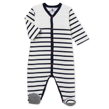 textil Barn Pyjamas/nattlinne Petit Bateau FUT Vit / Blå
