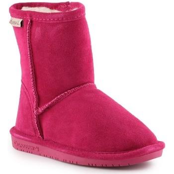 Skor Flickor Vinterstövlar Bearpaw Emma Toddler Zipper 608TZ-671 Pom Berry pink