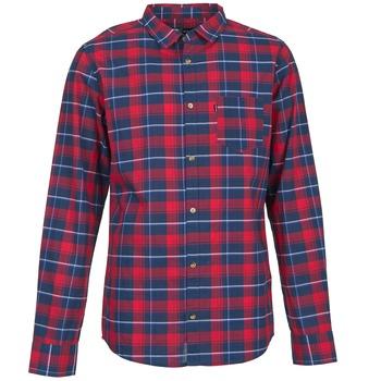 textil Herr Långärmade skjortor Rip Curl CONNECTION Röd / Blå