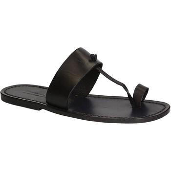 Skor Herr Flip-flops Gianluca - L'artigiano Del Cuoio 554 U NERO CUOIO nero