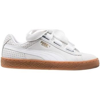 Skor Dam Sneakers Puma Basket Heart Perf Gum Vit