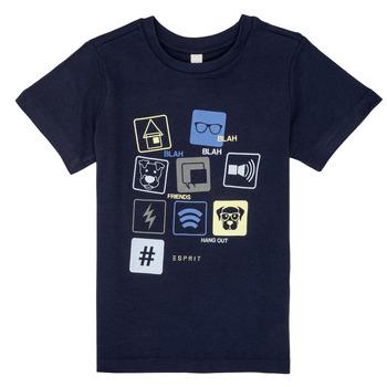 textil Pojkar T-shirts Esprit ENZIEO Marin