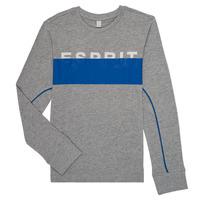 textil Pojkar Långärmade T-shirts Esprit FABIOLA Grå